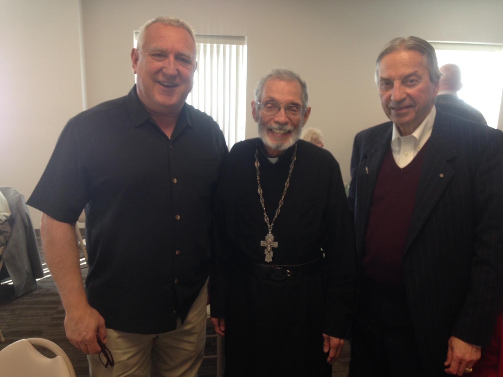 Sam, Fr. Ambrose, Tim